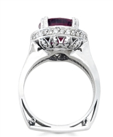 Anaya Red Tourmaline Ring in 14k white gold
