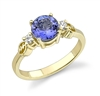 My Tanzanite Heart Ring in 14k yellow gold