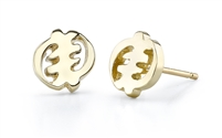 Noelle Gye Nyame Stud Earrings in 14k gold