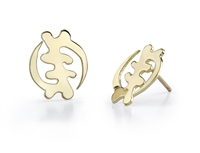 Lealle Gye Nyame Stud Earrings in 14k gold