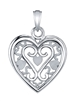 Sankofa Love Pendant in 14k white gold