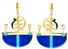Eternal Divine Lapis & Turquoise Earrings in 14k