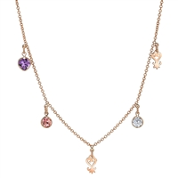 Love Remembered Sankofa Gem Necklace 14k