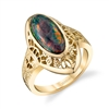 Opal Elegance 14k Yellow Gold Ring