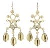 Adebola Chandeliers Earrings in 14k yellow gold