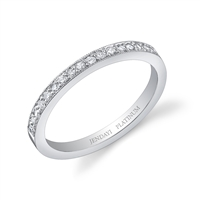 Selisa White Gold Diamond Wedding Band Pavé