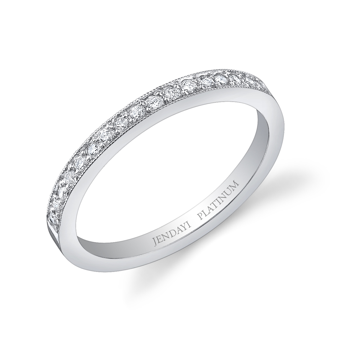 sterling band double round cz silver wedding ring accent platinum anniversary plated