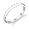 Platinum Wedding Band 2mm