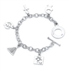 Power Story Charm Bracelet in sterling silver