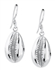Jacqueline Silver Cowry Shell Drops Medium