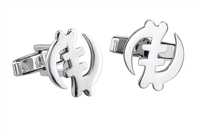 Gye Nyame Cufflinks  in sterling silver