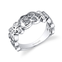 Sterling Silver Sankofa Flower Diamond Ring