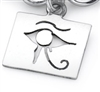 Eye Of Heru Charm in sterling silver