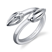 Acorn Twist Ring in sterling silver