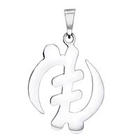Gye Nyame Pendant 30mm/2mm in sterling silver