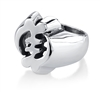 Gye Nyame Small Big Ring I in sterling silver
