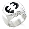 Gye Nyame Big Ring in sterling silver
