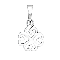 Nyame Dua Pendant 17-19mm in sterling silver