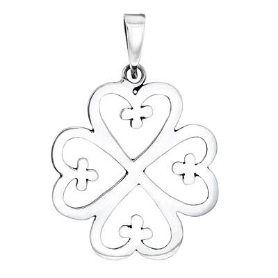 Nyame Dua Pendant 40mm in sterling silver