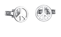 Peace Now  Sterling Silver Cufflinks