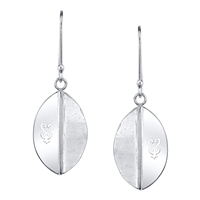Shield of Sankofa Sterling Silver Earrings