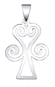 Love is the Key Sankofa Charm in sterling silver