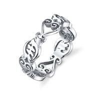Sankofa Gye Nyame Unity Ring in sterling silver