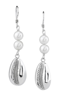 Jacqueline Cowry Pearl Dangles in sterling silver