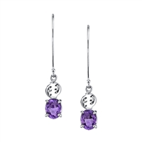 Ameerah Gye Nyame Dangles with Amethyst and sterling silver