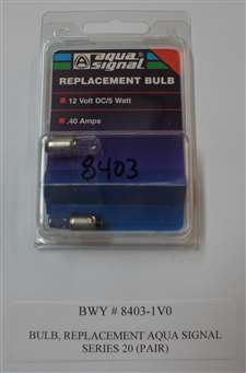 BULB, REPLACEMENT, AQUA SIGNAL, SERIES 20, EACH