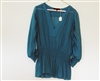 BCBG Maxazria Blue Shirt V-Neck Medium