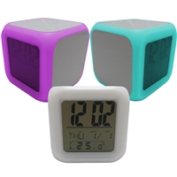 Sublimation Digital LED Color Change Alarm Clock
