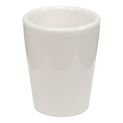 1.5 oz white ceramic sublimation shot glass