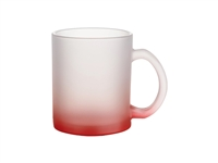 10 oz. Frosted Glass Mug - Gradient Red