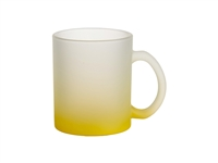 10 oz. Frosted Glass Mug - Gradient Yellow