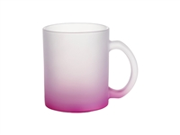 10 oz. Frosted Glass Mug - Gradient Purple