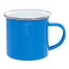 12 oz. Light Blue Camper Mug with Silver Lip