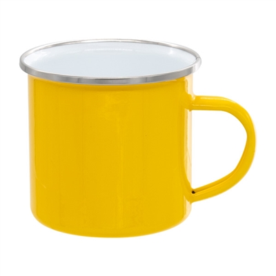 12 oz. Yellow Camper Mug with Silver Lip