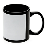 Black Mug 11oz - White Patch - Orca