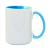 15 oz. Inner/Handle Light Blue Orca Mugs