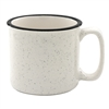 18 oz. Speckled Ceramic Camper Mug with Black Lip