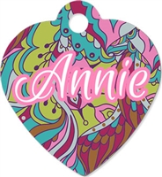 Unisub Pet Tag - Heart 1 Sided