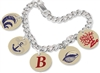 Unisub Charm Bracelet with 5 Bales and 5 Circle Charms