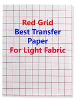 Transfer Paper - red grid - for white and light colored fabrics