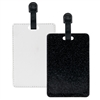 Fashion Sparkle Luggage Tag - Black (PU)