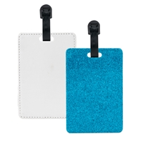 Fashion Sparkle Luggage Tag - Blue (PU)