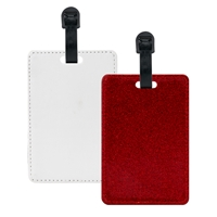 Fashion Sparkle Luggage Tag - Red (PU)