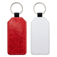 Fashion Sparkle Keychain - Red Rectangle (PU)