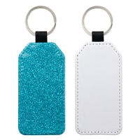 Fashion Sparkle Keychain - Blue Rectangle (PU)