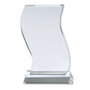 Sublimation Crystal Wave Award 4 x 7